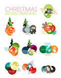 Christmas Sale Paper Stickers Stock Images