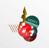 Christmas Sale Paper Stickers. Vector Christmas Sale Paper Stickers Stock Image