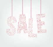 Christmas Sale Pattern Hanging in White background Royalty Free Stock Images