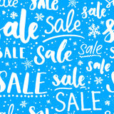 Christmas sale pattern with snowflakes  Royalty Free Stock Photo
