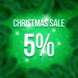 Christmas sale pine-01 Royalty Free Stock Photography