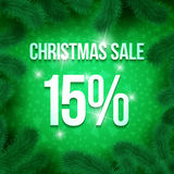 Christmas sale pine-03 Royalty Free Stock Images