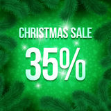Christmas sale pine-07 Royalty Free Stock Photos