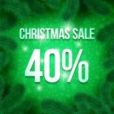 Christmas sale pine-08 Royalty Free Stock Photography
