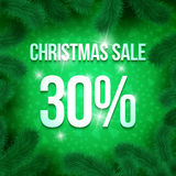 Christmas sale pine-06 royalty free illustration