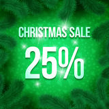 Christmas sale pine-05 Royalty Free Stock Images