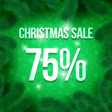 Christmas sale pine-15 Royalty Free Stock Image