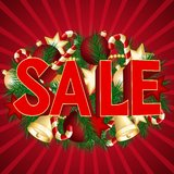 Christmas sale poster Stock Photos