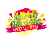 Christmas Sale Poster, Banner or Flyer design. Stock Images