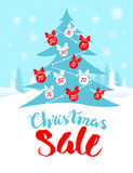 Christmas sale poster. Big Christmas sale. Seasonal sale background for banners, advertising, leaflet, cards, invitation and so on Royalty Free Stock Image