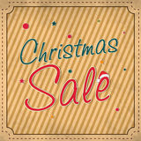 Christmas sale poster, card, banner or flyer. Stylish poster, card, banner or flyer with stylish text of Christmas Sale for Merry Christmas celebration Stock Photos