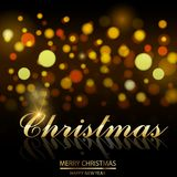 Christmas sale poster on defocused lights background. Vector.  Vector Illustration