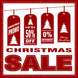 Christmas sale poster design template royalty free stock photography