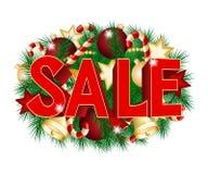 Christmas sale poster Royalty Free Stock Photos