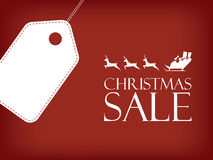 Christmas sale poster. Holiday sales vector Royalty Free Stock Image