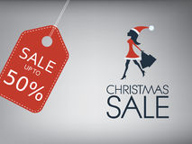 Christmas sale poster. Holiday sales vector Stock Photos