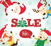 Christmas Sale Poster Stock Photo
