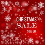 Christmas sale poster, special offer, discount. Vector illustration Stock Photos