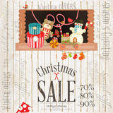 Christmas Sale Poster Royalty Free Stock Photos