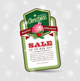 Christmas Sale Poster Royalty Free Stock Images