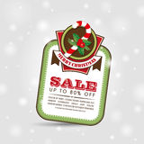 Christmas Sale Poster vector illustration
