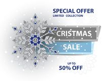 Christmas sale poster stock photo