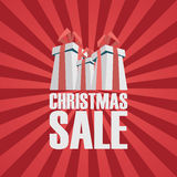 Christmas sale poster template. Holiday sales Royalty Free Stock Images