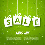 Christmas sale poster template. Xmas sale background. Winter holiday discount Royalty Free Stock Photos