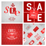 Christmas Sale Posters Stock Photography
