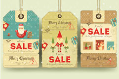 Christmas Sale Price Tags Stock Photo