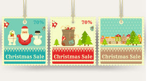 Christmas Sale Price Tags Royalty Free Stock Photos