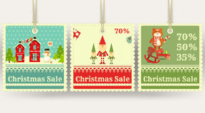 Christmas Sale Price Tags Royalty Free Stock Image