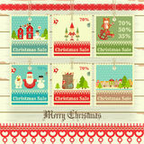 Christmas Sale Price Tags Stock Images