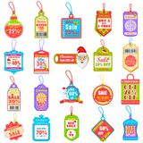 Christmas sale and promotion tag and dangler Stock Photos