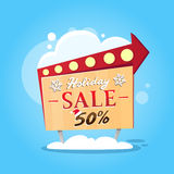 Christmas Sale Promotional Sign Board Stock Photography
