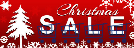 Christmas Sale Red Background Royalty Free Stock Photo