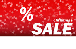 Christmas sale red background Stock Photo