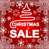 Christmas Sale on a red Background. Royalty Free Stock Image