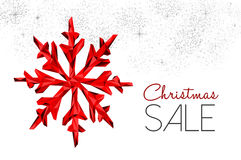 Christmas sale red decoration for winter discount Stock Image