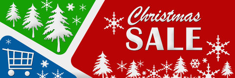 Christmas Sale Red Green Blue Stock Photo