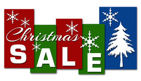 Christmas Sale Red Green Blue Stripes Royalty Free Stock Images