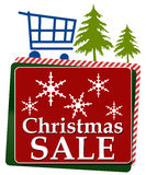 Christmas Sale Red Green Squares Royalty Free Stock Photos
