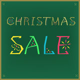 Christmas Sale with retro letters royalty free stock image