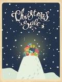 Christmas sale retro Royalty Free Stock Photos