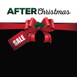 After Christmas sale ribbon background Stock Images
