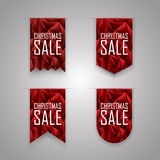 Christmas sale ribbon elements. Sales ribbons Royalty Free Stock Photos
