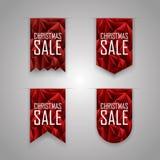 Christmas sale ribbon elements. Sales ribbons Royalty Free Stock Photos