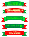 Christmas sale ribbons Royalty Free Stock Photo
