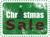 Christmas Sale Rubber Stamp stock illustration