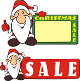 Christmas sale - santa claus Stock Image
